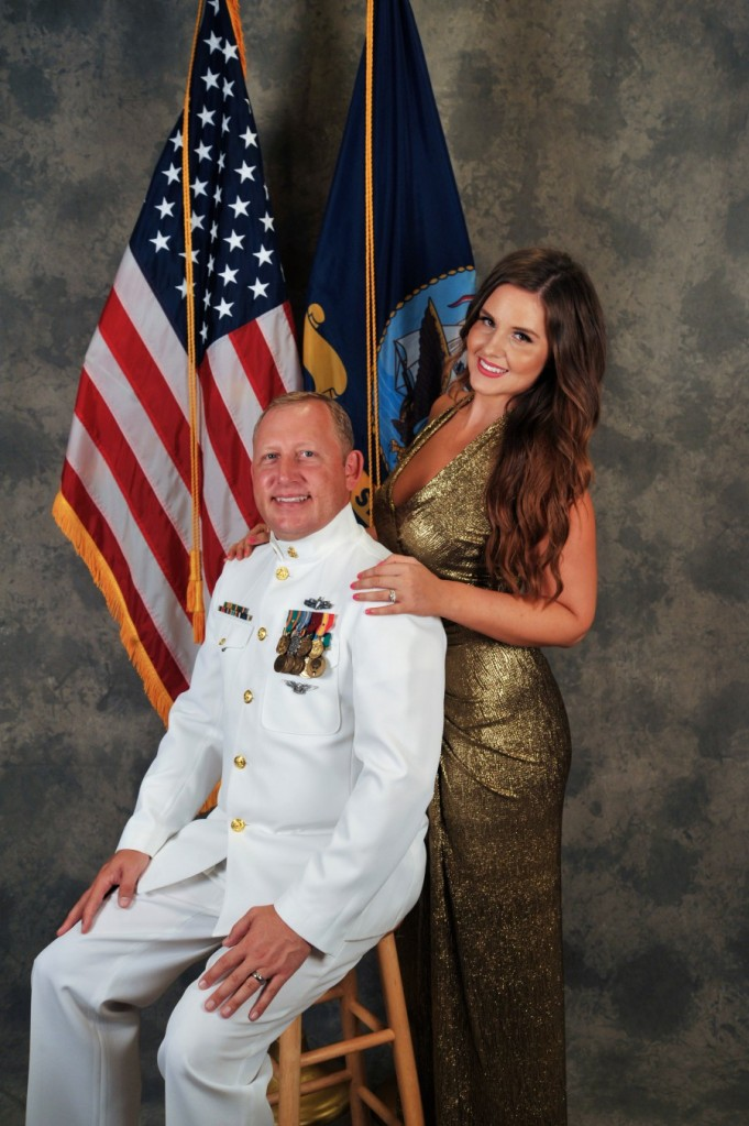 The Navy provided a photographer, who also directing the posing.